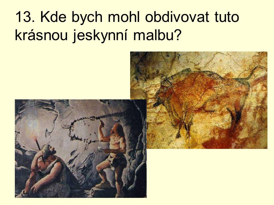 13. Kde bych mohl obdivovat tuto krásnou jeskynní malbu?
