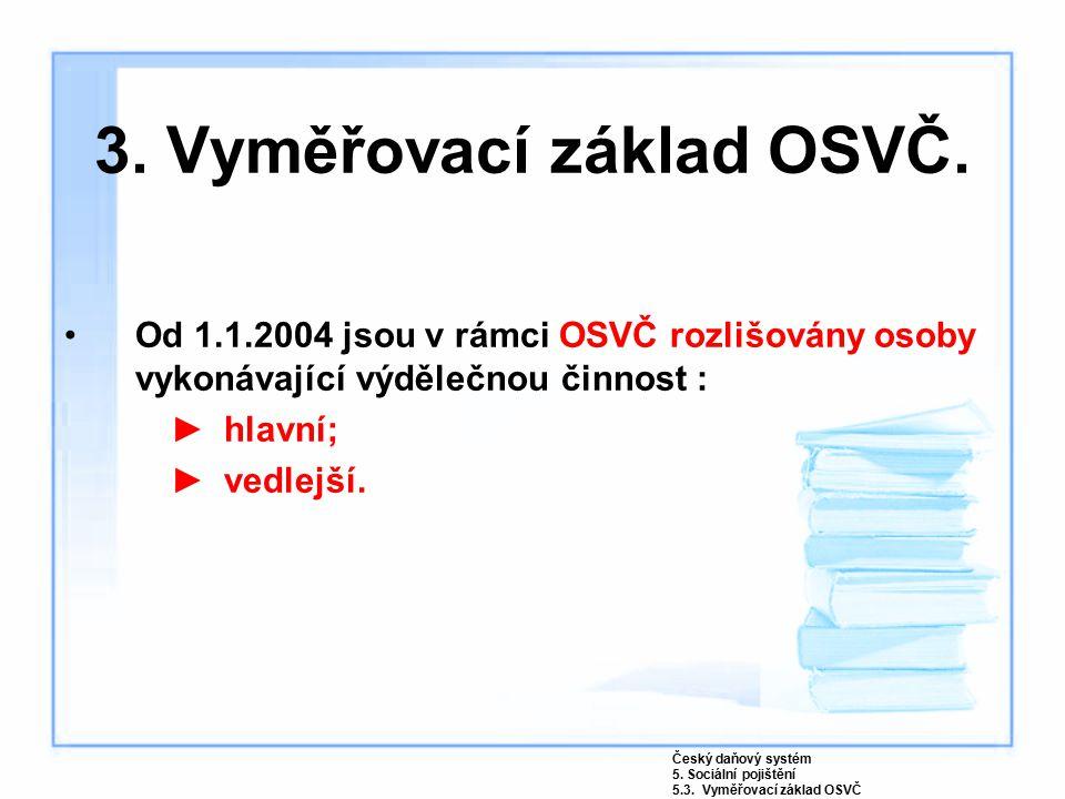 3.Vyměřovací základ OSVČ.