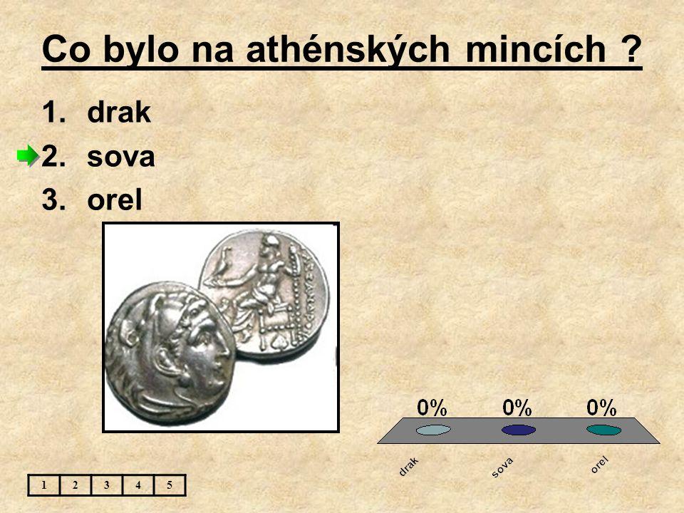 Autorem sochy Diskobolos je : 12345 1.Myron 2.Feidiás 3.neznámý autor