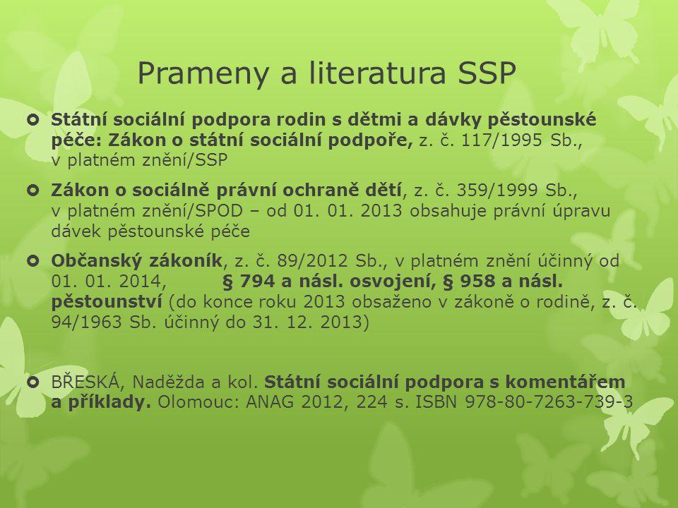Prameny a literatura HmN a OZP  Pomoc v hmotné nouzi: Zákon o pomoci v hmotné nouzi, z.