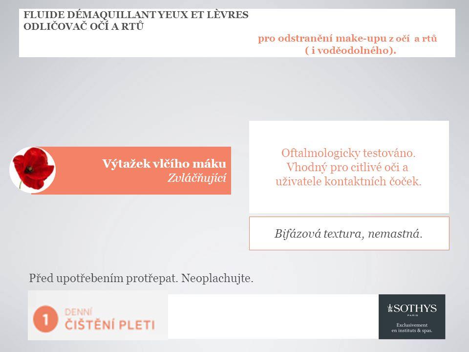 FLUIDE DÉMAQUILLANT YEUX ET LÈVRES ODLIČOVAČ OČÍ A RTŮ pro odstranění make-upu z očí a rtů ( i voděodolného).