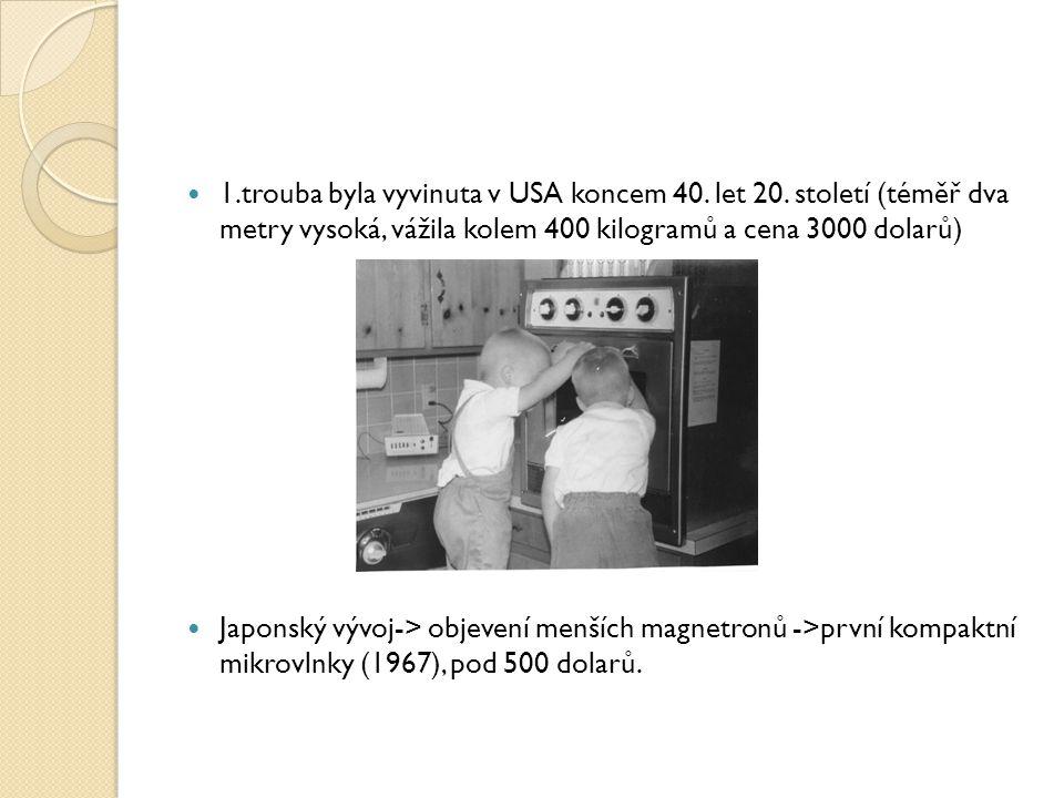 Tepelná úprava pokrmu prováděna za pomoci elektromagnetického záření s frekvencí 2,45 GHz tj.