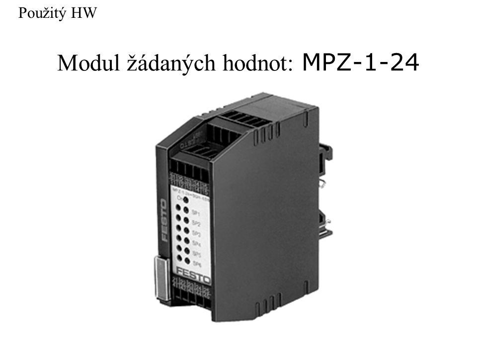 Modul žádaných hodnot: MPZ-1-24 Použitý HW