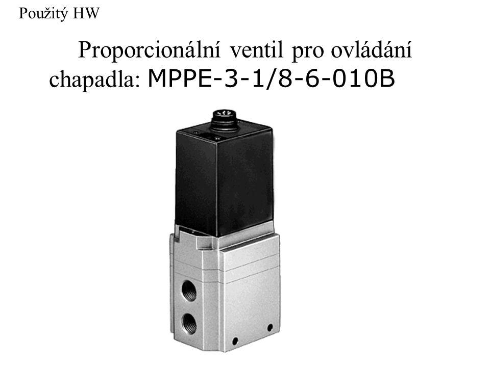 Proporcionální ventil pro ovládání chapadla: MPPE-3-1/8-6-010B Použitý HW