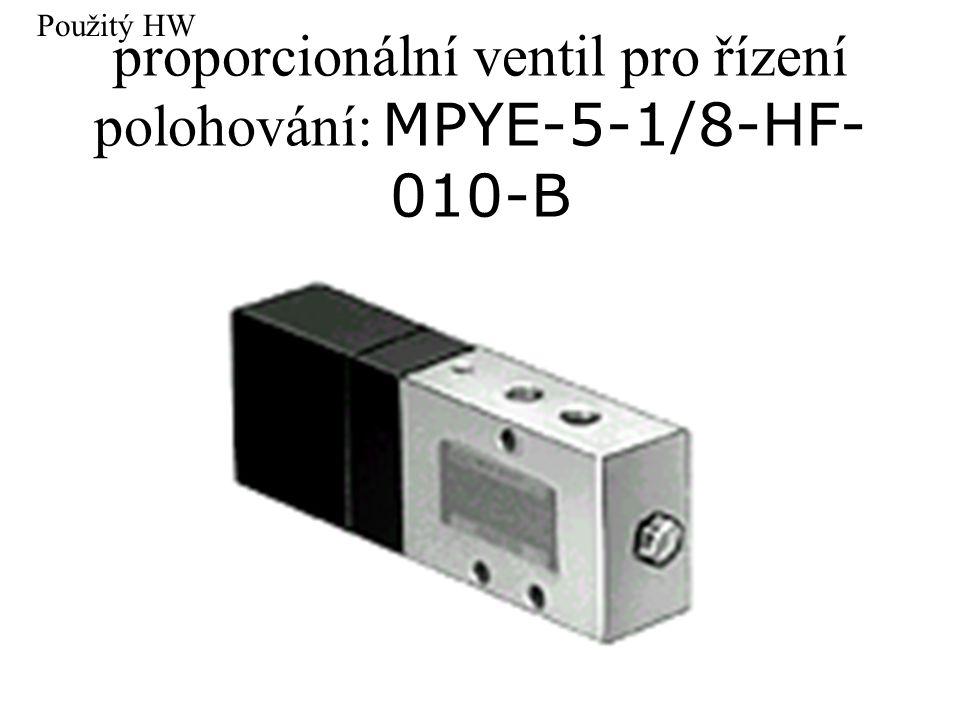 proporcionální ventil pro řízení polohování: MPYE-5-1/8-HF- 010-B Použitý HW