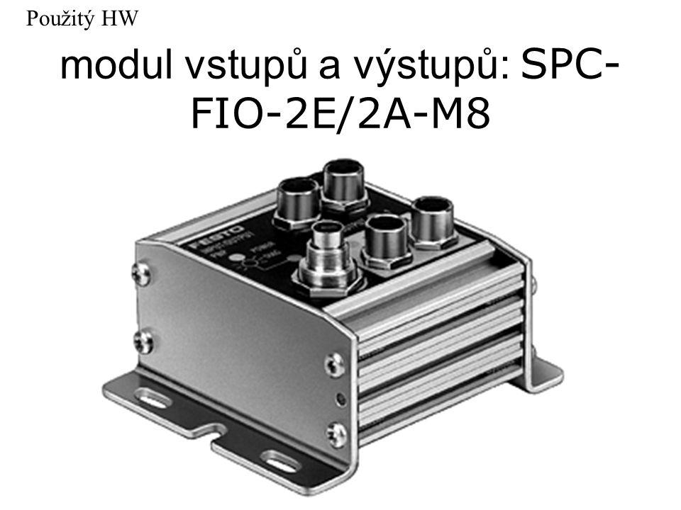 modul vstupů a výstupů: SPC- FIO-2E/2A-M8 Použitý HW