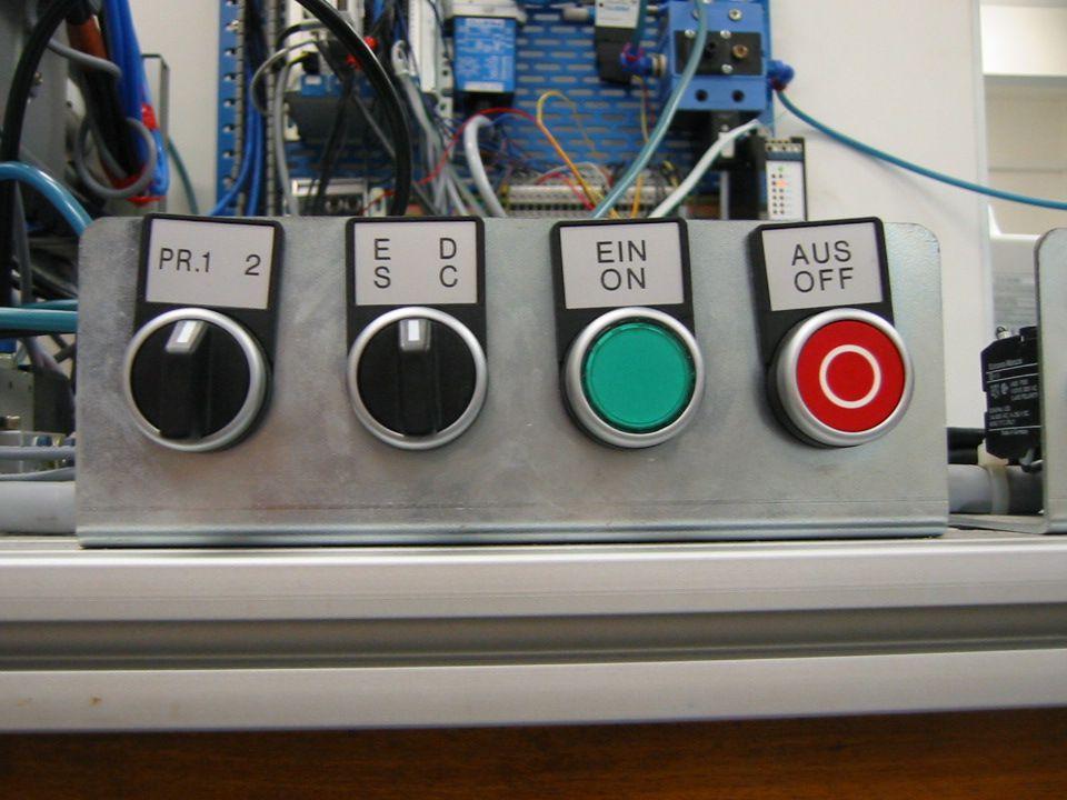 Uspořádání operátorských tlačítek