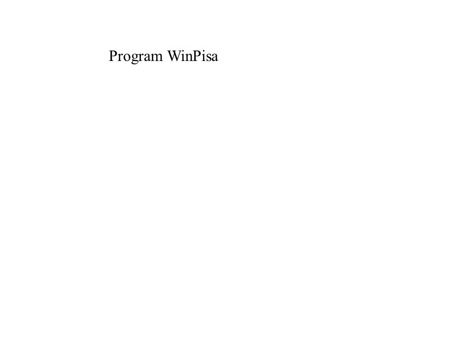Program WinPisa