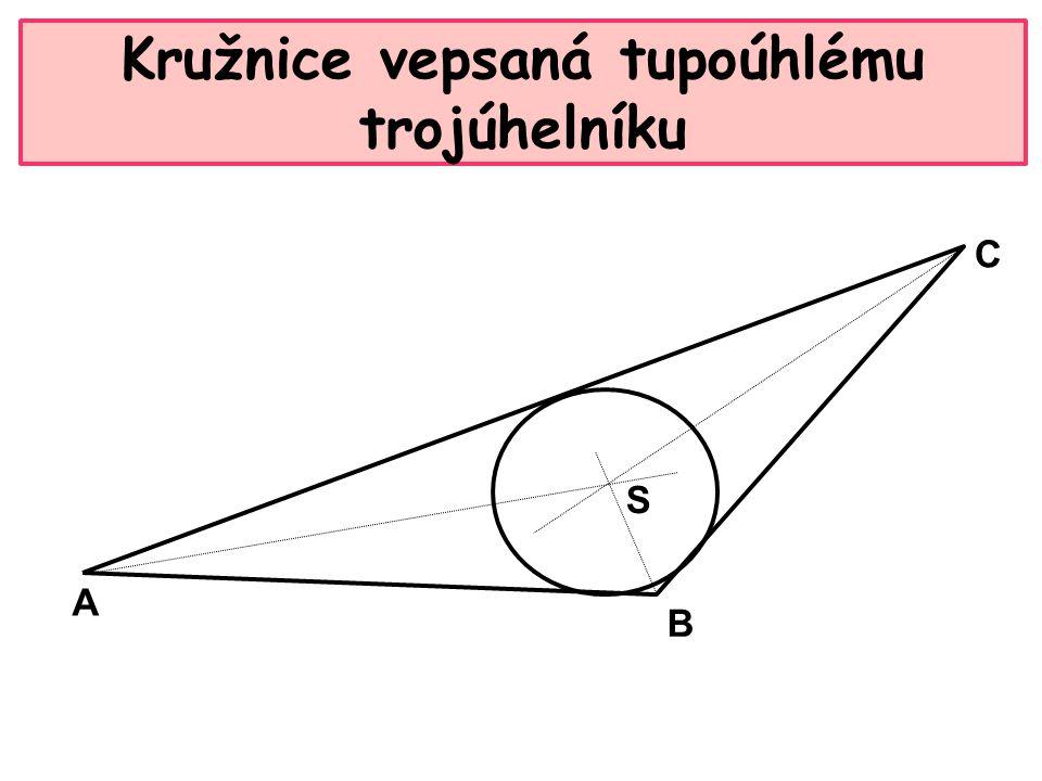 Kružnice vepsaná tupoúhlému trojúhelníku A B C S