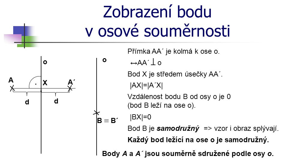 Zobrazení úsečky v osové souměrnosti o A´ A B´ B.d2d2.