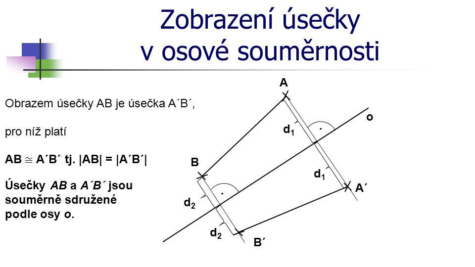 Zobrazení trojúhelníku v osové souměrnosti o A´ A B´ B.