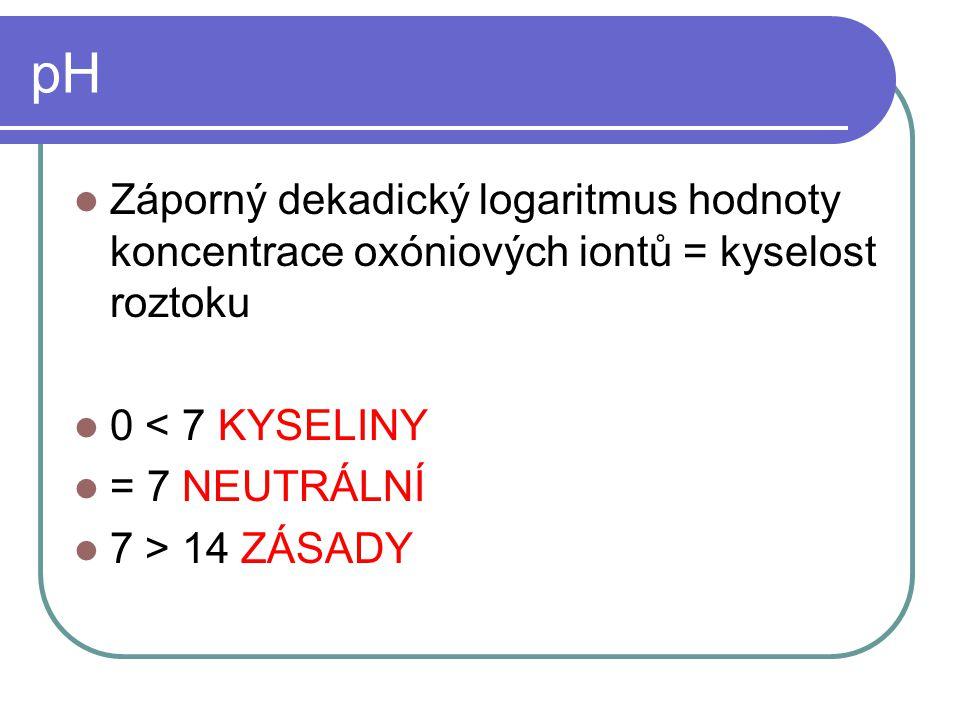ACIDOBAZICKÉ REAKCE = PROTOLYTICKÉ REAKCE Reakce mezi kyselinami a zásadami (bazemi) Přenos H +
