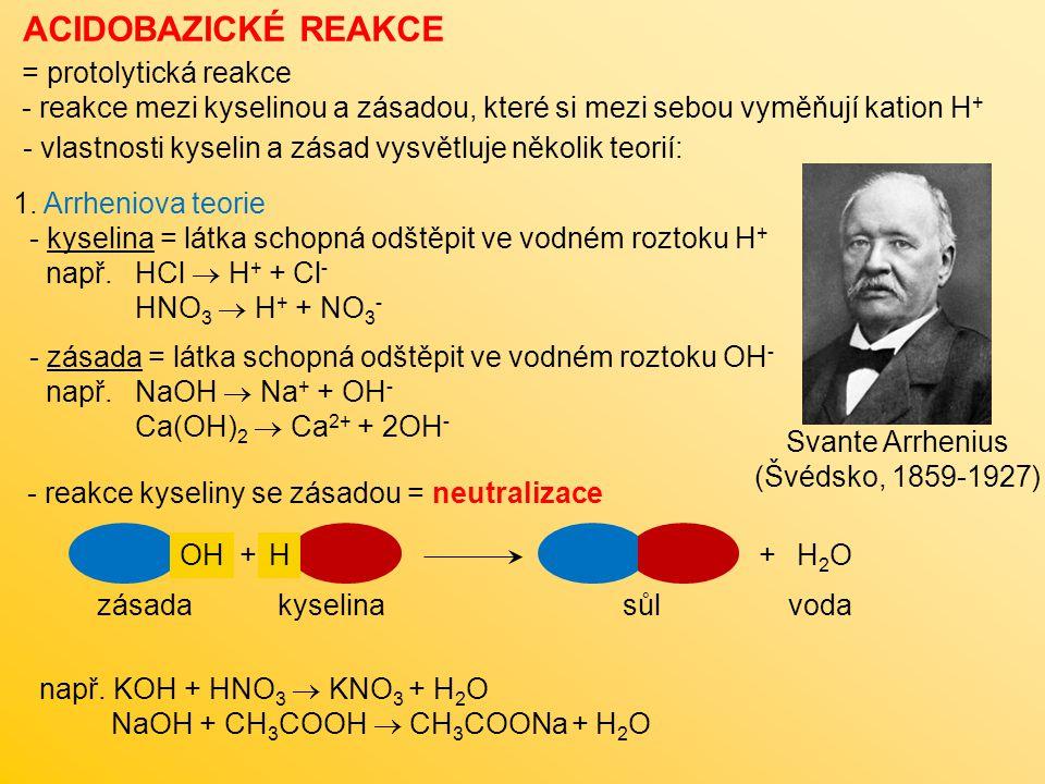 ACIDOBAZICKÉ REAKCE 2.