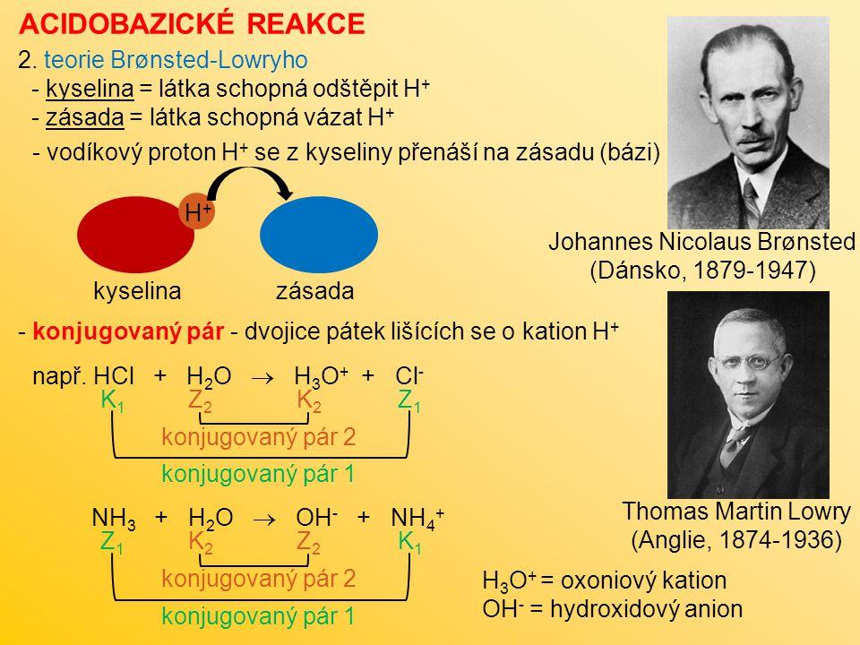 ACIDOBAZICKÉ REAKCE 3.