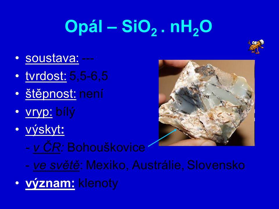 Limonit - Fe 2 O 3. nH 2 O