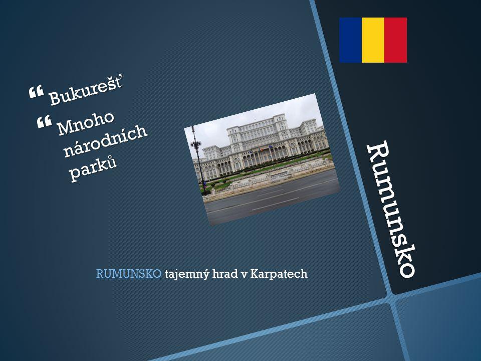 Rumunsko  Bukureš ť  Mnoho národních park ů RUMUNSKORUMUNSKO tajemný hrad v Karpatech