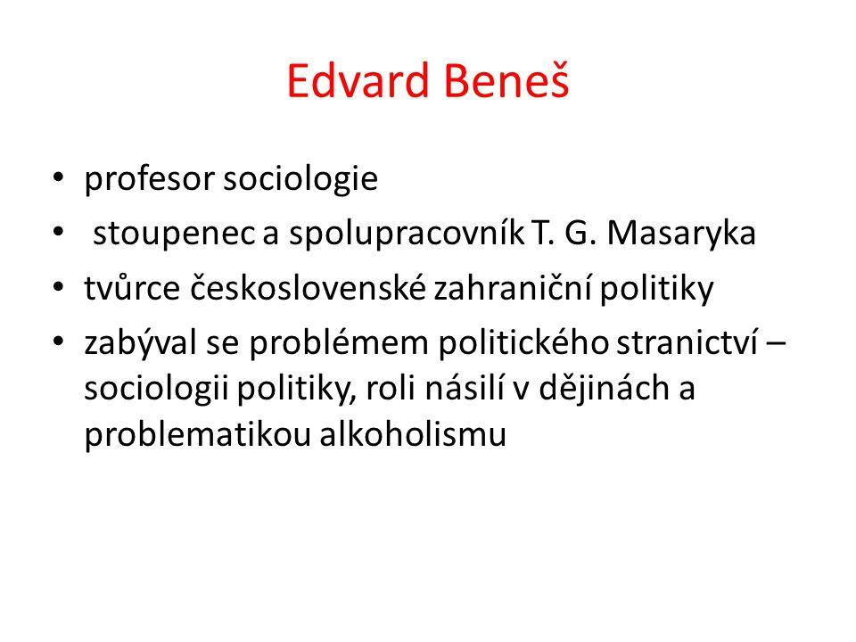 profesor sociologie stoupenec a spolupracovník T. G.