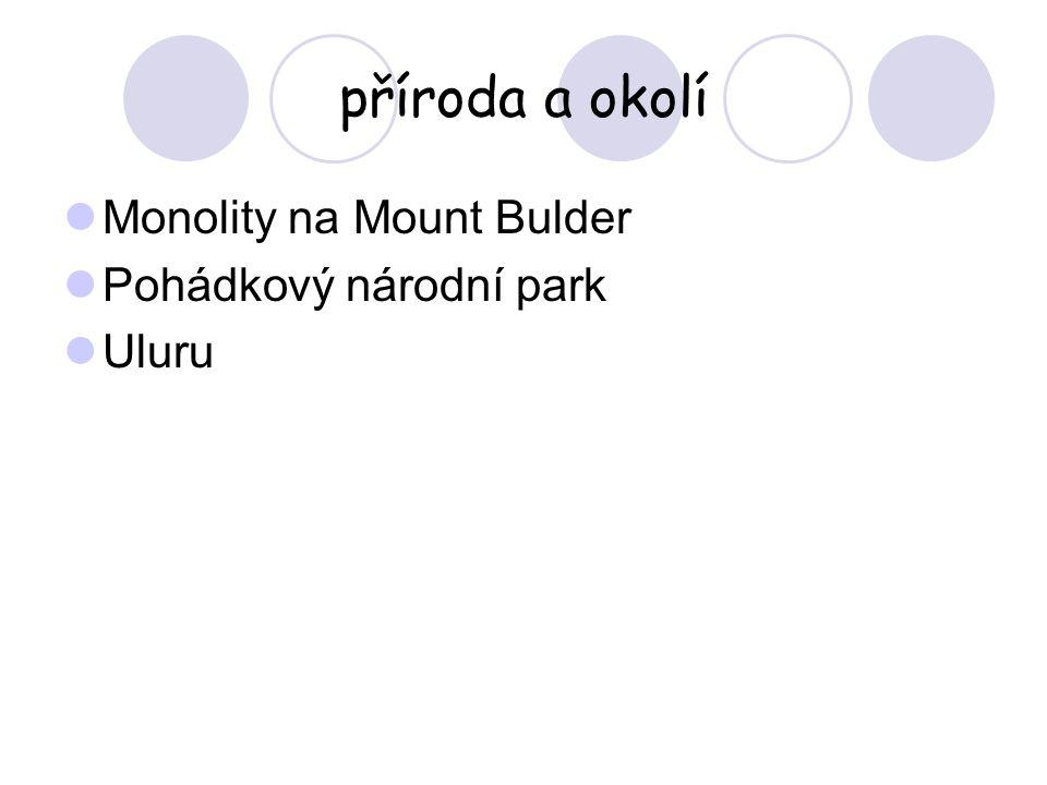 příroda a okolí Monolity na Mount Bulder Pohádkový národní park Uluru