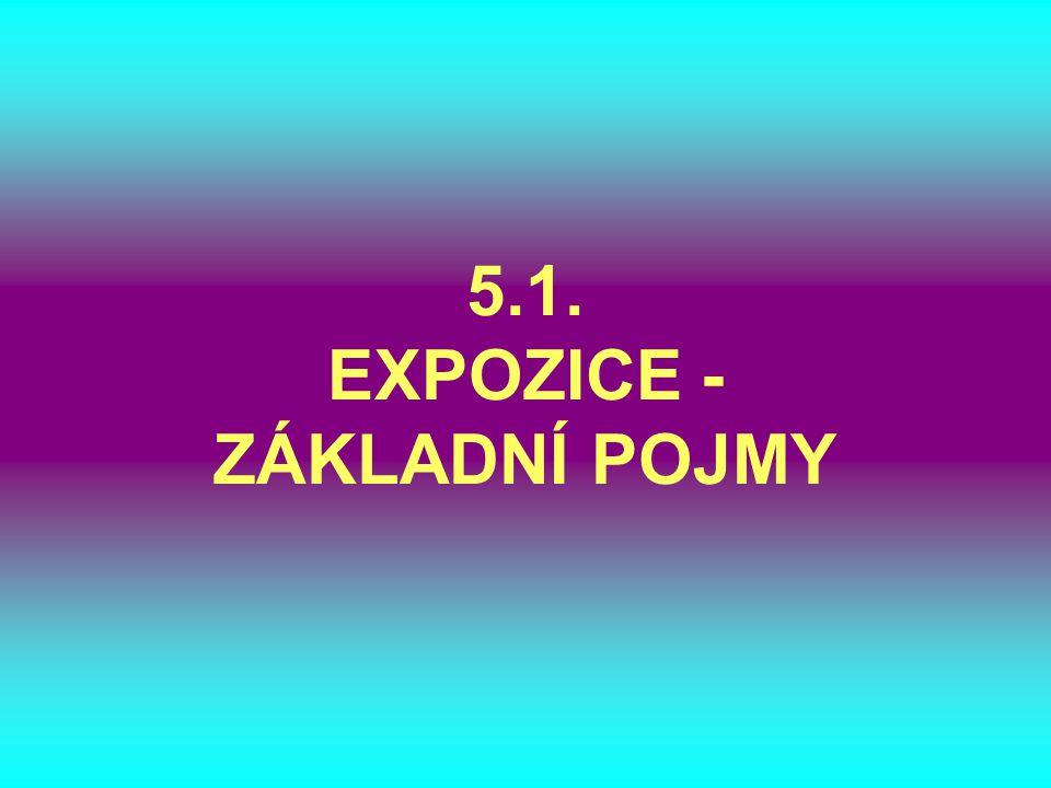 5.1. EXPOZICE - ZÁKLADNÍ POJMY