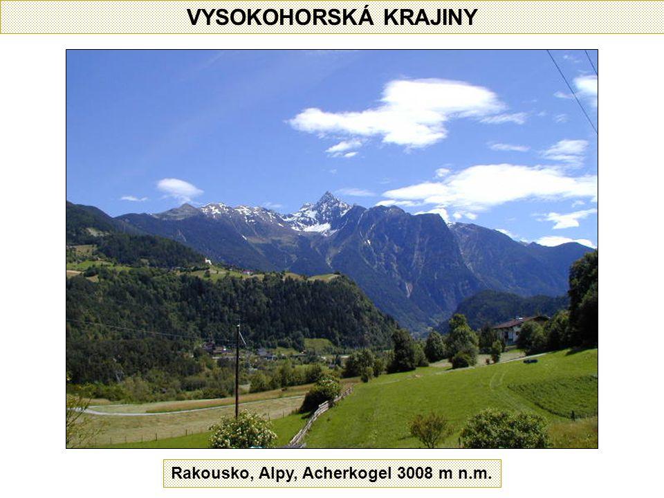 VYSOKOHORSKÁ KRAJINY Rakousko, Alpy, Acherkogel 3008 m n.m.
