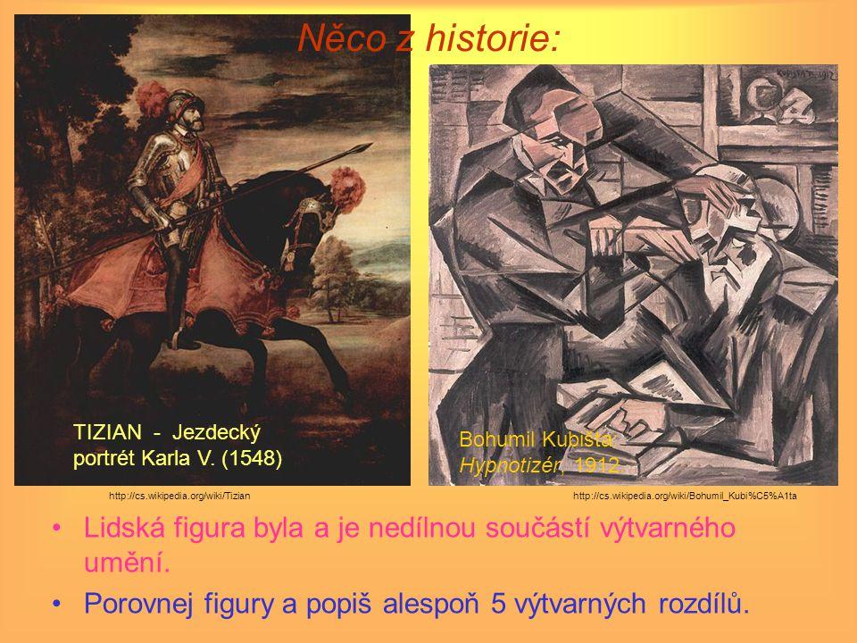Něco z historie: Lidská figura byla a je nedílnou součástí výtvarného umění.