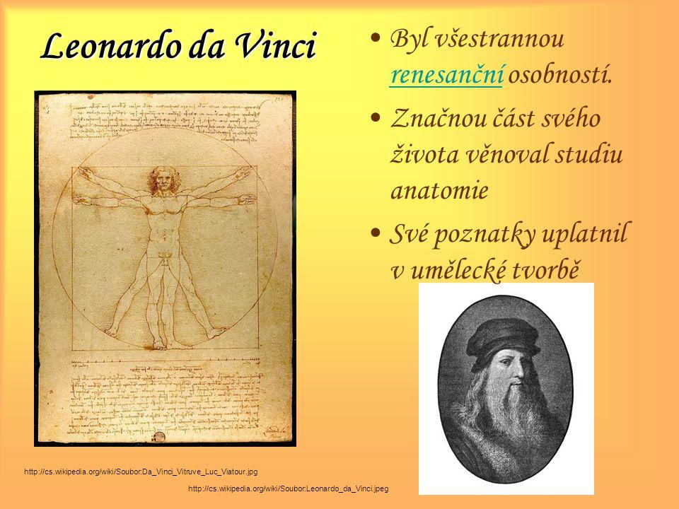 Leonardo da Vinci Byl všestrannou renesanční osobností.