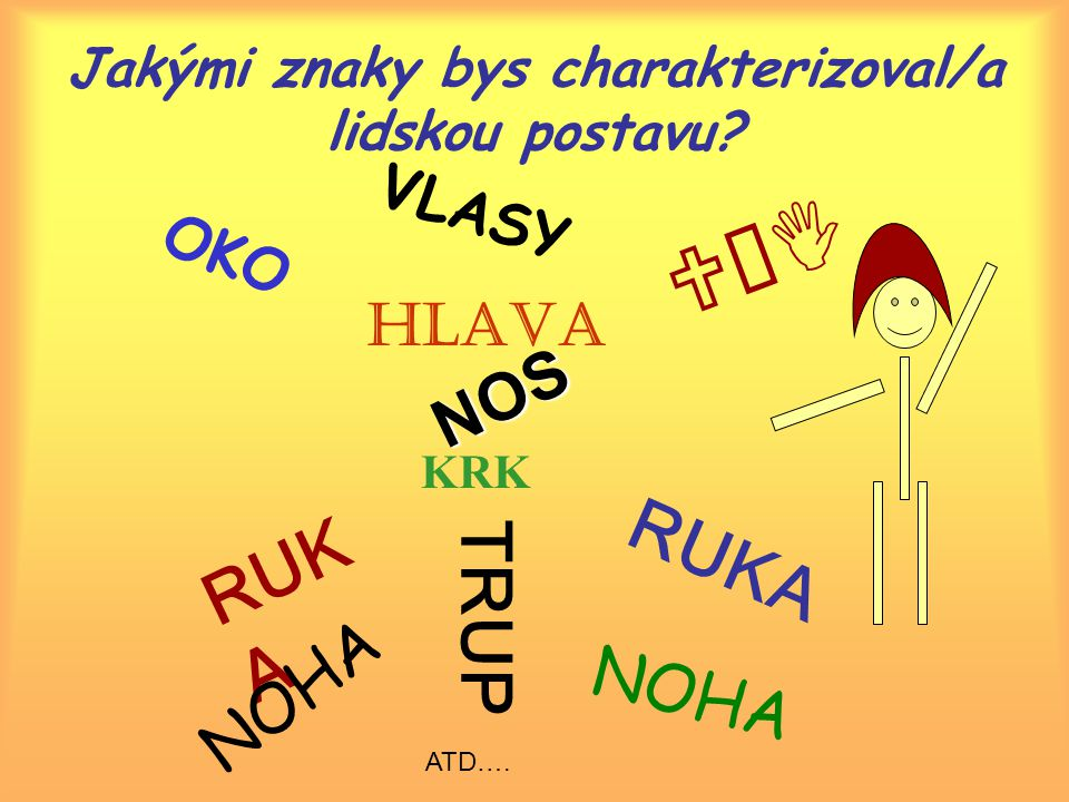 Jakými znaky bys charakterizoval/a lidskou postavu.