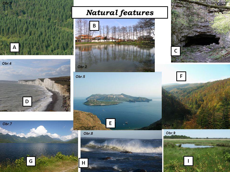 Natural features A B C F E D G H I Obr.1 Obr.2 Obr.3 Obr.4 Obr.5 Obr.6 Obr.7 Obr.8 Obr.9