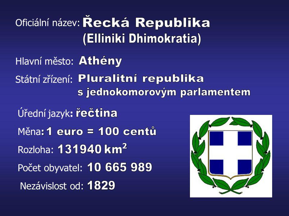 Sousedící země: Albánie Makedonie Bulharsko Turecko délka pobřeží - 13 676 km