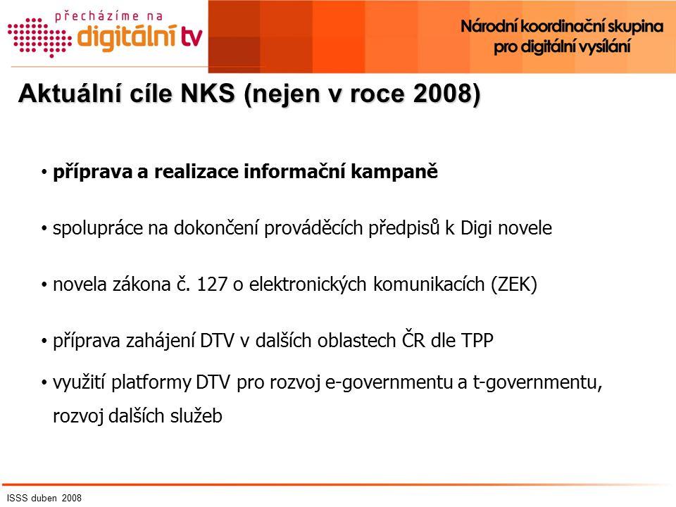 Aktuální cíle NKS (nejen v roce 2008) příprava a realizace informační kampaně spolupráce na dokončení prováděcích předpisů k Digi novele novela zákona č.