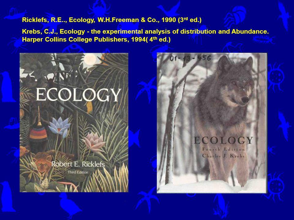 Série Biology of Habitats vydávaná Oxford University Press Výborná je Miller, Biological Oceanopgraphy Blackwell 2003 A též Lampert & Sommer Limnoecology Oxford University Press 2.