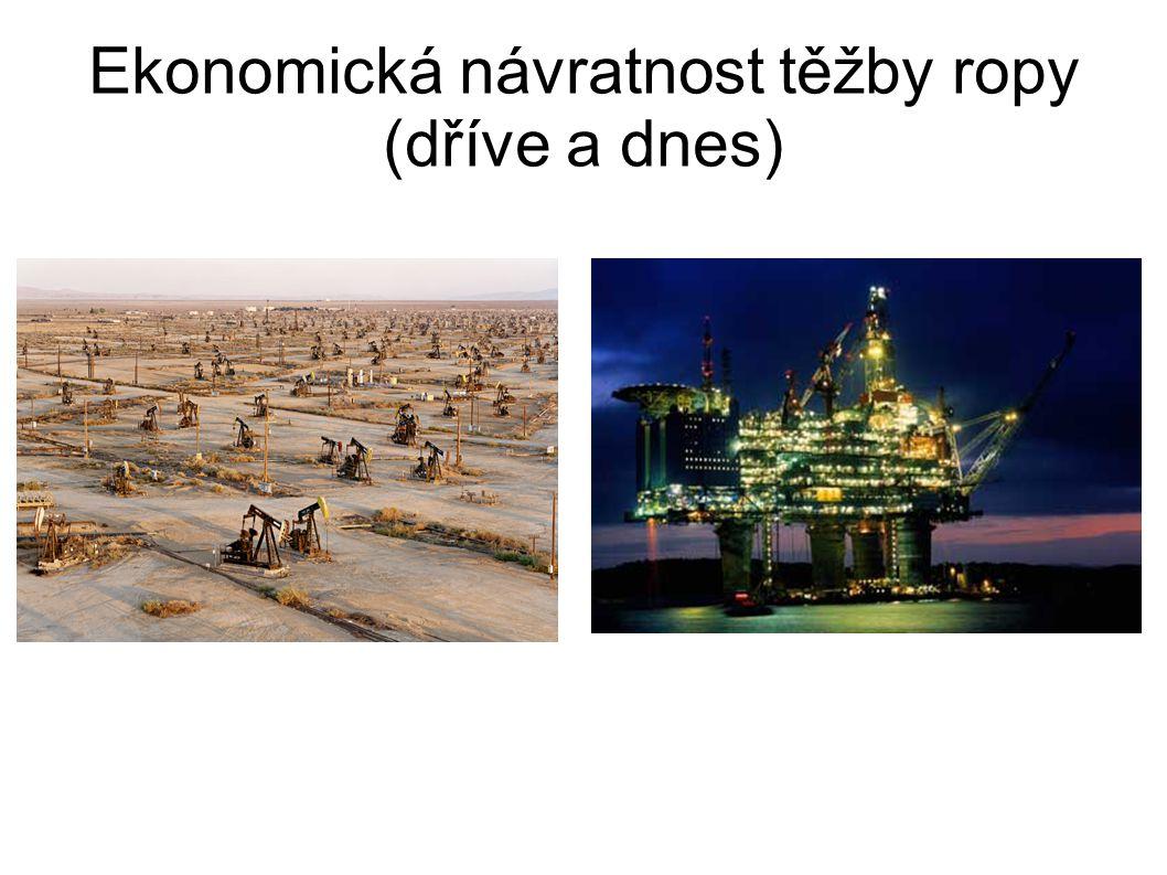Ekonomická návratnost těžby ropy (dříve a dnes)