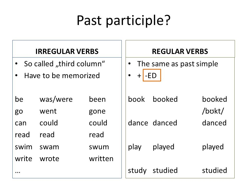 Past participle.