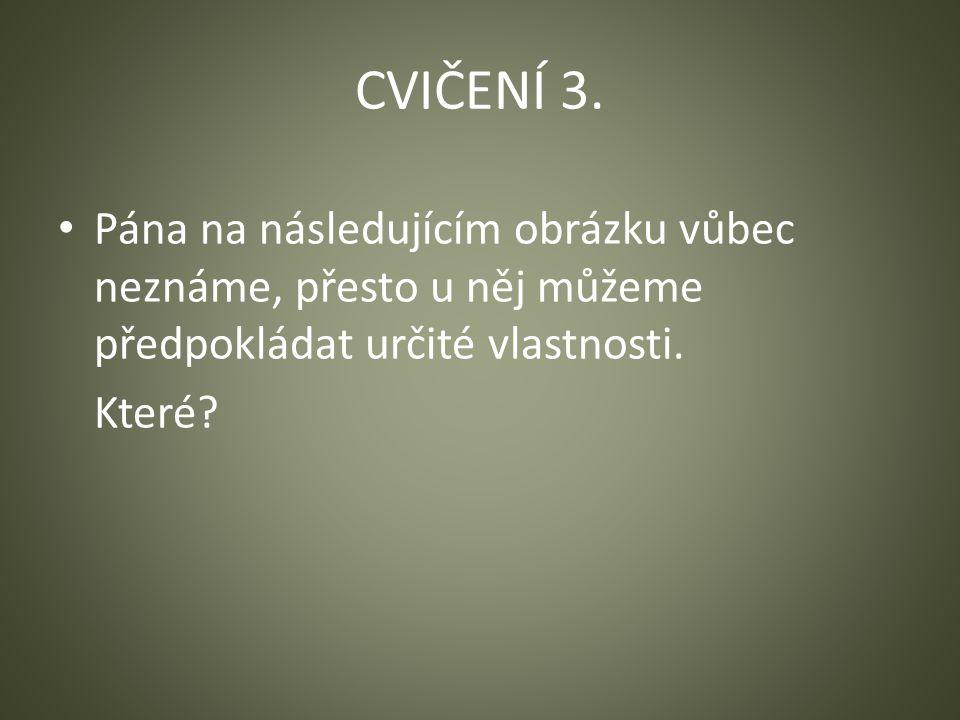 CVIČENÍ 3.