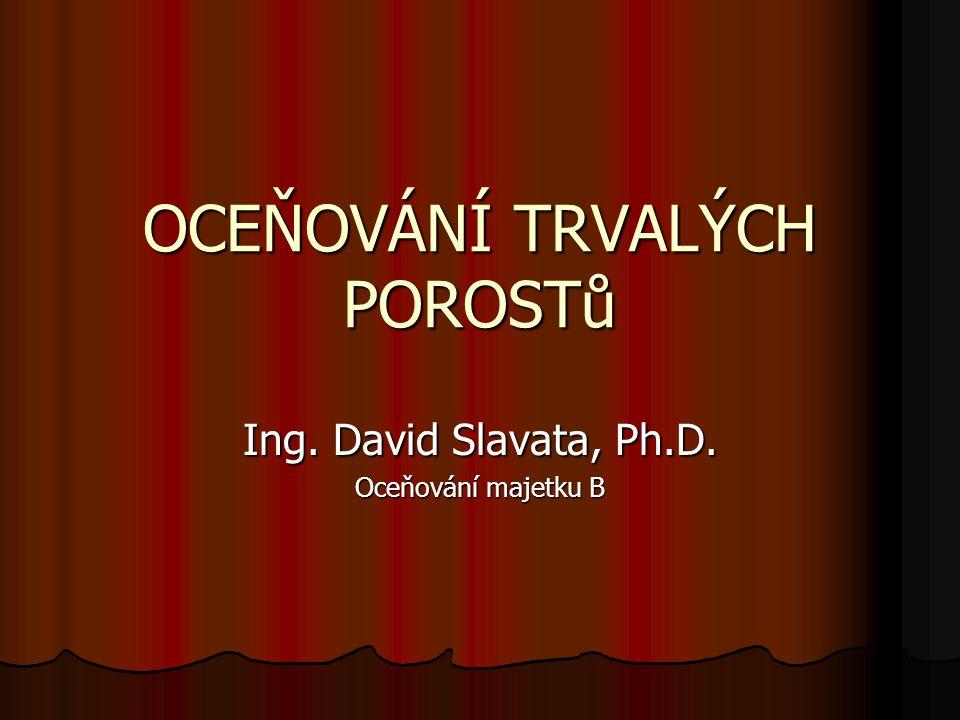 OCEŇOVÁNÍ TRVALÝCH POROSTů Ing. David Slavata, Ph.D. Oceňování majetku B