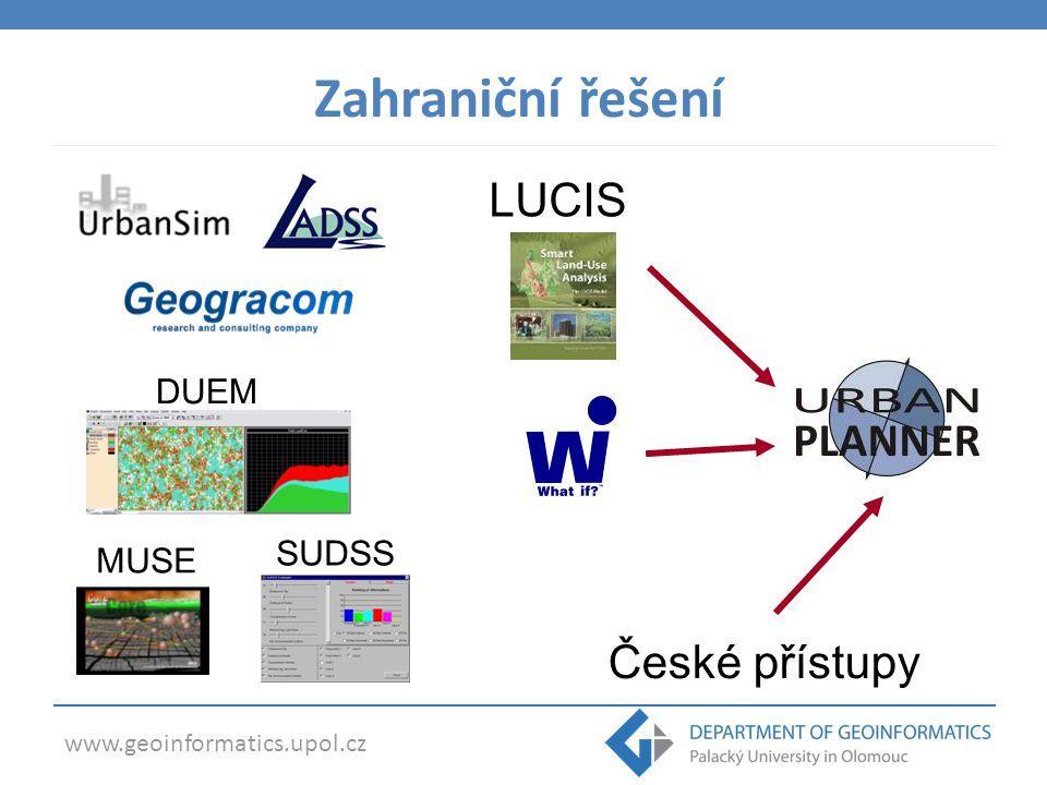 www.geoinformatics.upol.cz  4. Návrh rozvojových ploch Urban Planner 2.0