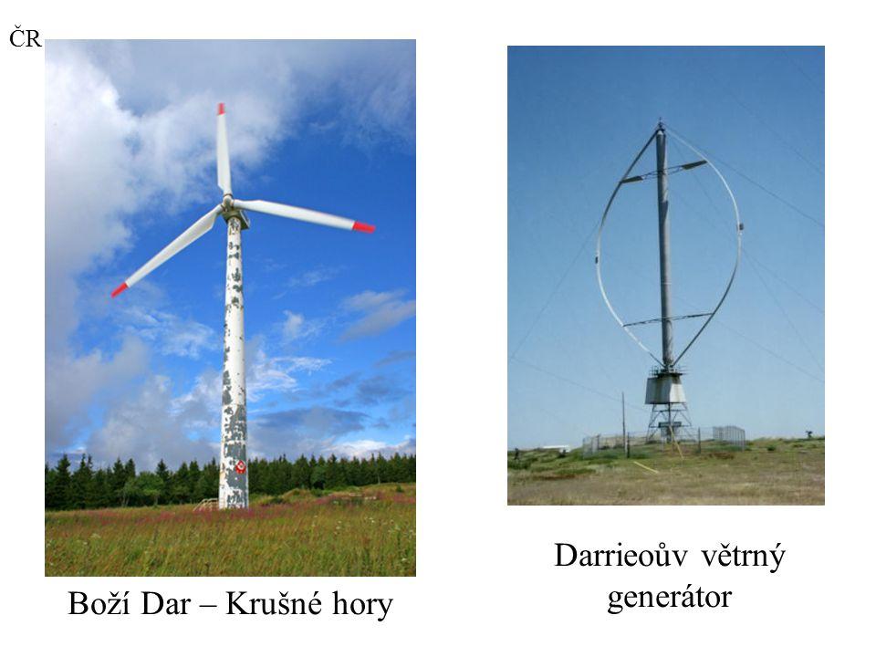 Boží Dar – Krušné hory ČR Darrieoův větrný generátor
