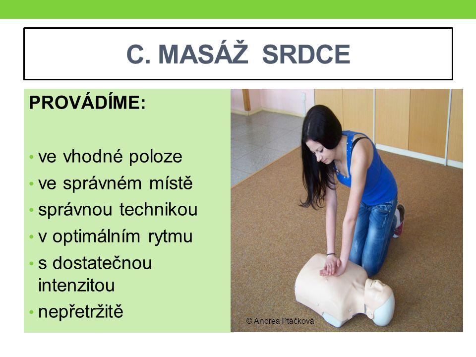 C. MASÁŽ SRDCE nesprávně správně © Andrea Ptáčková