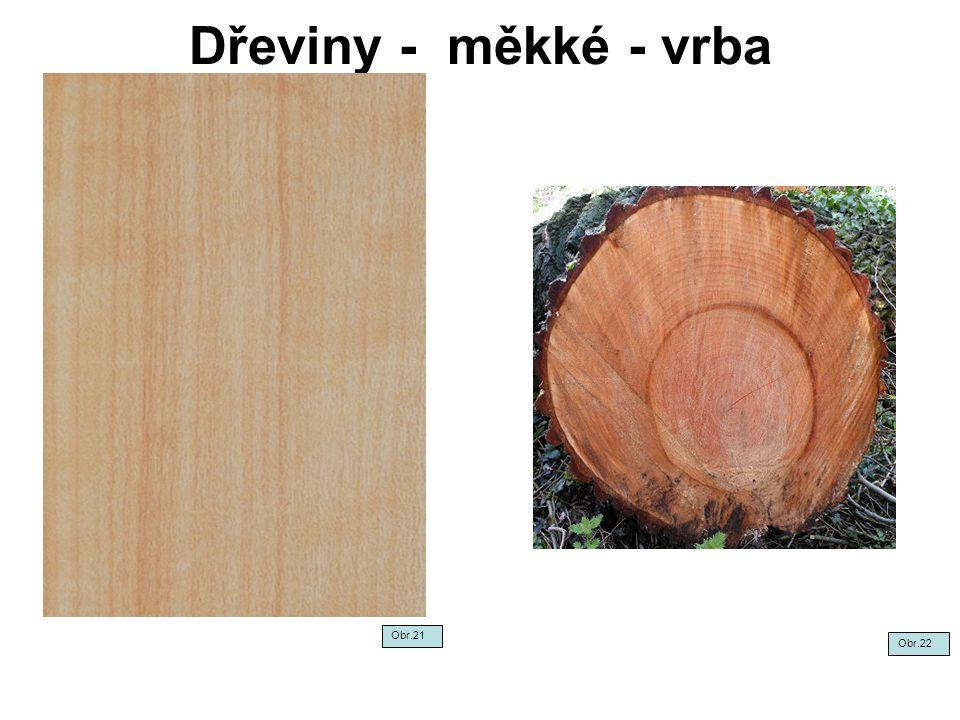 Dřeviny - měkké - vrba Obr.21 Obr.22