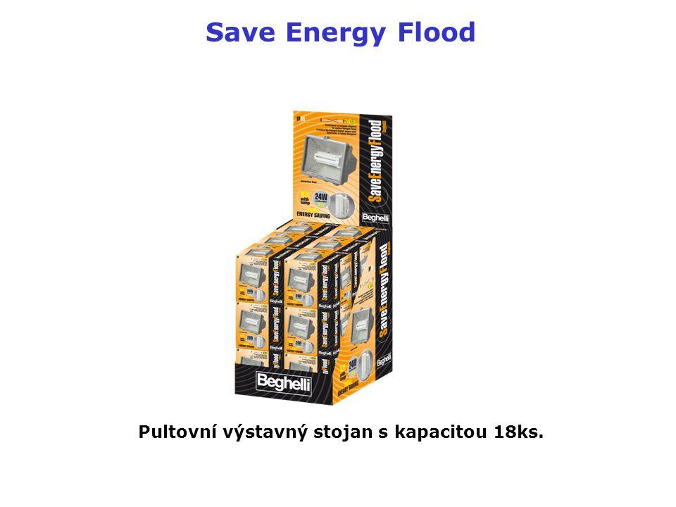 Save Energy Flood Pultovní výstavný stojan s kapacitou 18ks.