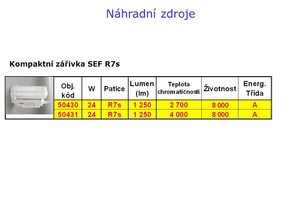 Kompaktní zářivka SEF R7s Náhradní zdroje