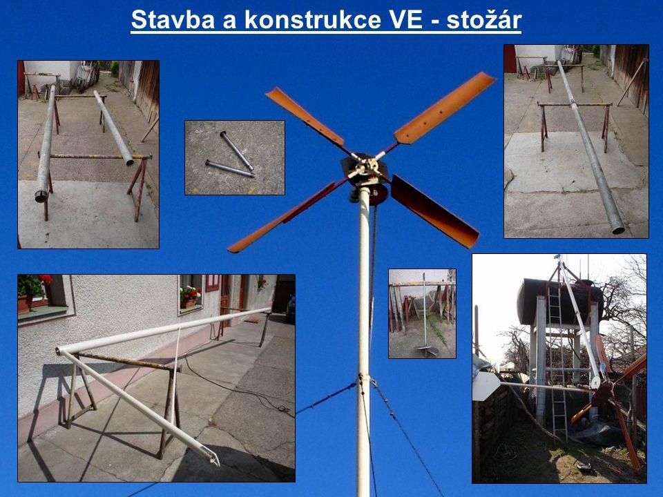 Stavba a konstrukce VE - stožár