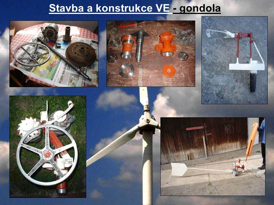 Stavba a konstrukce VE - gondola