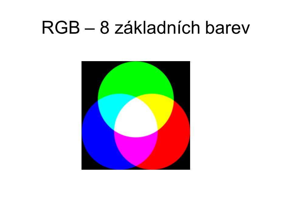 RGB – 8 základních barev