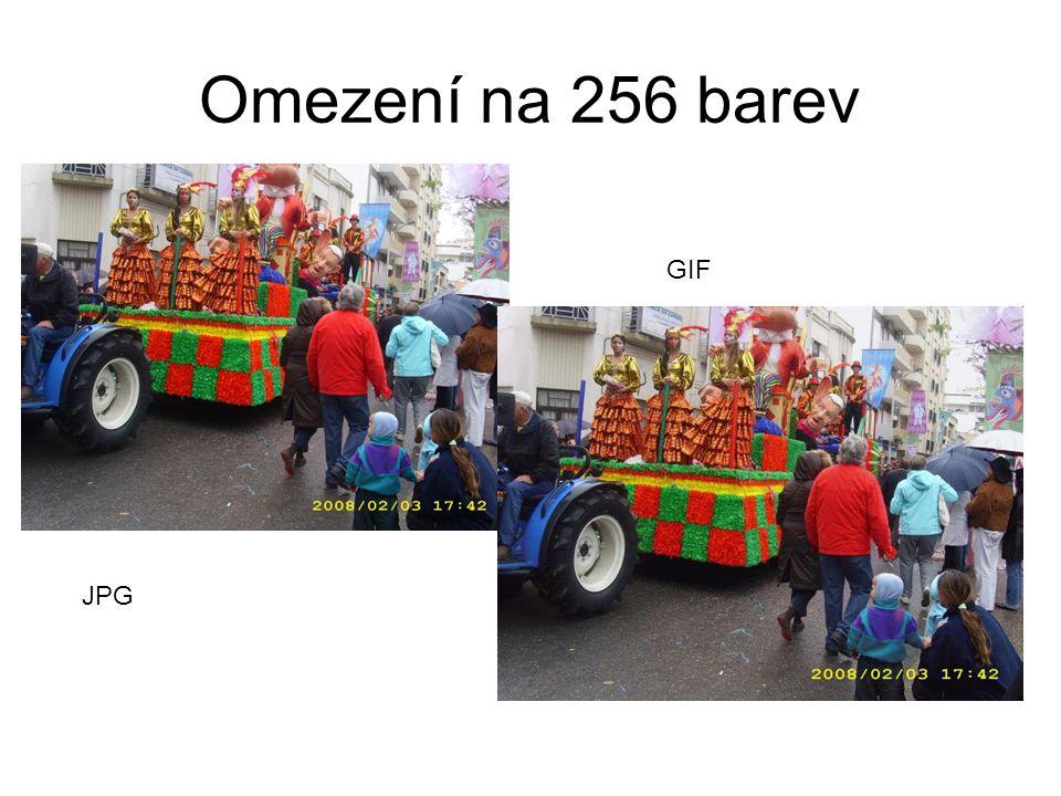 Omezení na 256 barev JPG GIF
