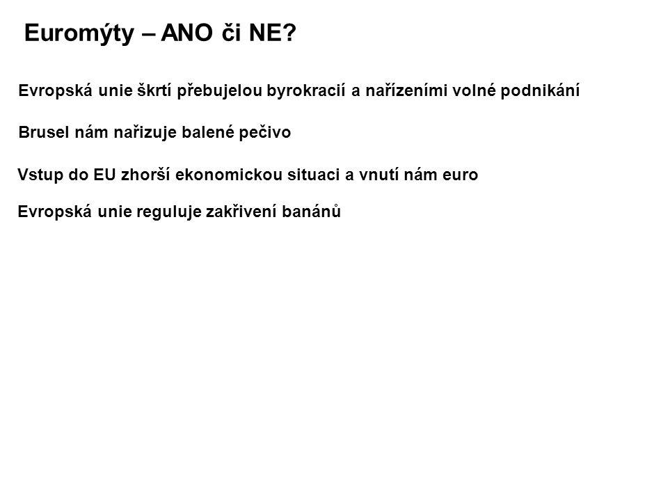 Euromýty – ANO či NE.