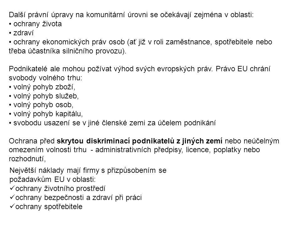 2. Příležitosti a hrozby pro české podniky na VTEU