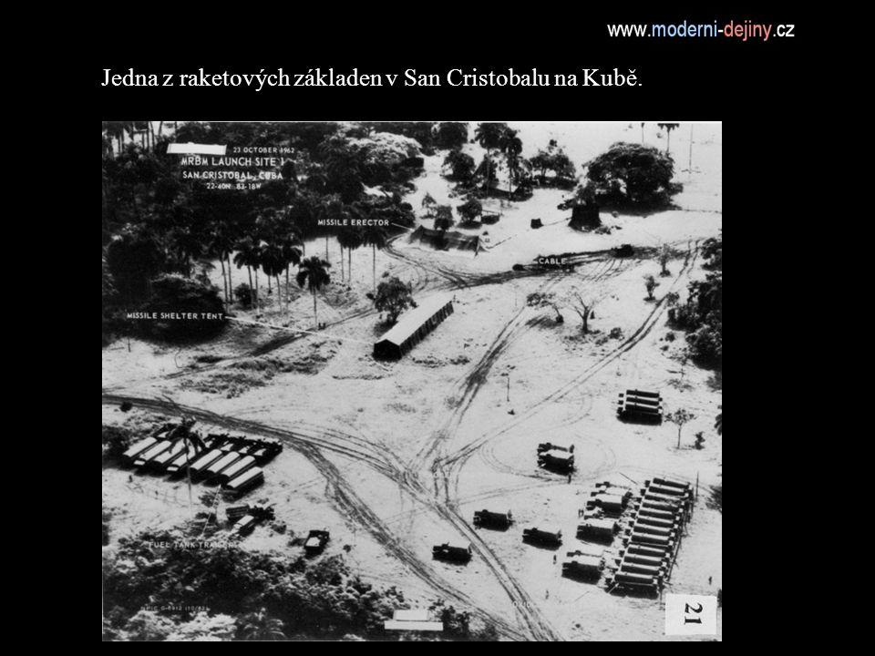 Jedna z raketových základen v San Cristobalu na Kubě.