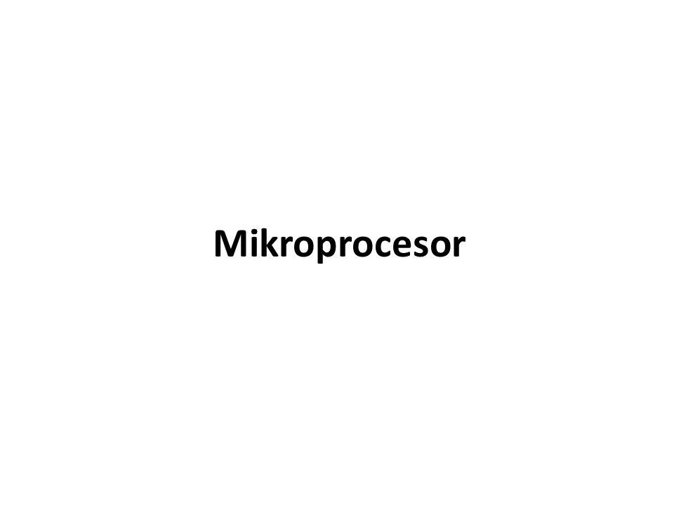 je složitý logický obvod, který je jádrem celého mikropočítače.