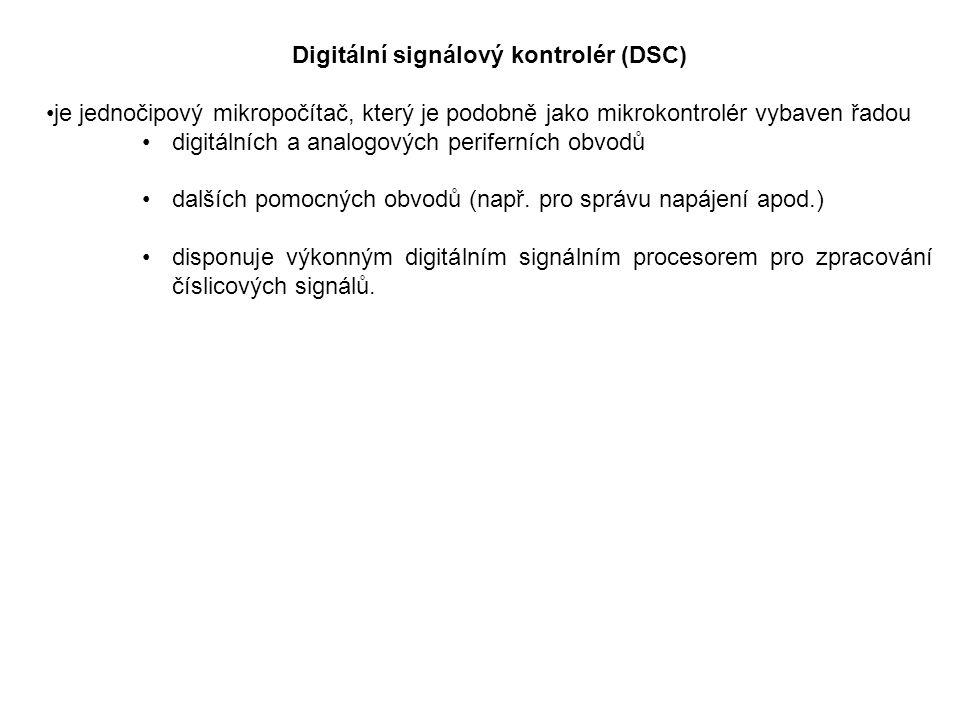 Digitální signálový kontrolér (DSC) je jednočipový mikropočítač, který je podobně jako mikrokontrolér vybaven řadou digitálních a analogových perifern